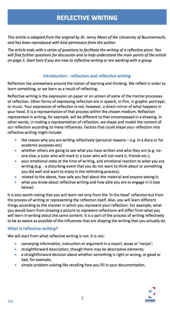 Introspective essay